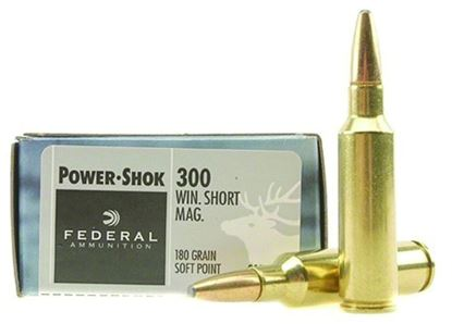 Picture of Federal 300WSMC Power-Shok Rifle Ammo 300 WSM, SP, 180 Grains, 2980 fps, 20, Boxed