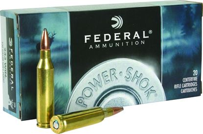 Picture of Federal 243B Power-Shok Rifle Ammo 243 WIN, SP, 100 Grains, 2960 fps, 20, Boxed