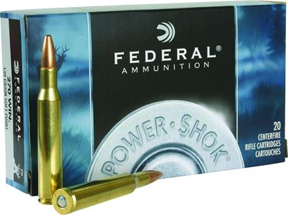 Picture of Federal 270A Power-Shok Rifle Ammo 270 WIN, SP, 130 Grains, 3060 fps, 20, Boxed
