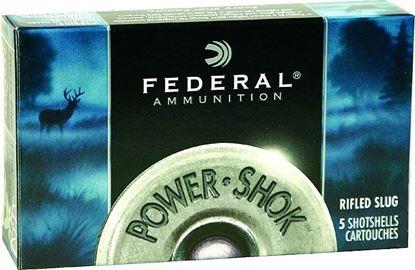 Picture of Federal F164-RS Power-Shok Rifled Slugs 16 GA, 2-3/4 in, 7/8oz, 1600 fps, 5 Rnd per Box