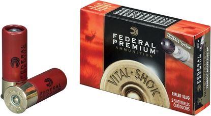 Picture of Federal PB127-LRS Vital-Shok TruBall Rifled Slugs 12 GA, 2-3/4 in, 1oz, 3-1/4 Dr, 1300 fps, 5 Rnd per Box