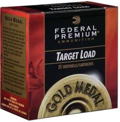 "Picture of Federal GMT115-8 Gold Medal Grand Plastic Shotshell 12 GA 2 3/4"" 2 3/4De 1 1/8oz 8 1,145 Fps, 25 Rnd per Box"