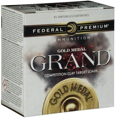 "Picture of Federal GMT113-8 Gold Medal Grand Plastic Shotshell 12 GA 2 3/4"" 2 3/4DE 1oz 8 1,180fps, 25 Rnd per Box"