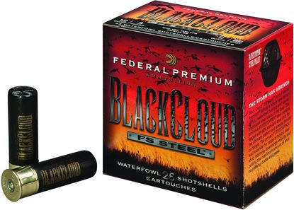 "Picture of Federal PWBXH143-BB Black Cloud Waterfowl Shotshell 12 GA 3"" 1-1/8oz BB ""High Velocity"", 25 Rnd per Box"