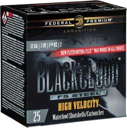"Picture of Federal PWBXH143-2 Black Cloud Waterfowl Shotshell 12 GA 3"" 1-1/8oz 2 ""High Velocity"", 25 Rnd per Box"