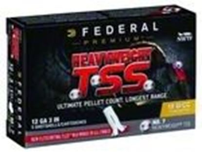 "Picture of Federal PTSSX193F-7 Heavyweight TSS Turkey Shotshell 12 GA 3"" 1 3/4oz #7, 5 Rnd per Box"
