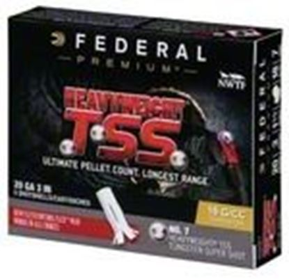 "Picture of Federal PTSSX259F-7 Heavyweight TSS Turkey Shotshell 20 GA 3"", 1-1/2oz, #7, 1200fps, 5 Rnd per Box"