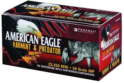 Picture of Federal AE22350VP American Eagle Rifle Ammo 223 Rem 50Gr Jacketed Hollow Point Varmint/Predator