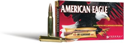 Picture of Federal AE30CB American Eagle Rifle Ammo 30 CARBINE, FMJ, 110 Grains, 1990 fps, 50, Boxed