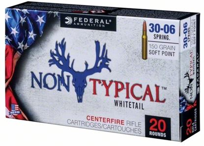 Picture of Federal 3006DT150 Non-Typical Rifle Ammo, 30-06 Spr 150 Gr Soft Point, 20 Round Box