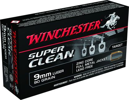 Picture of Winchester W9MMLF 9mm 90Gr Zinc FMJ Super Clean Lead Free