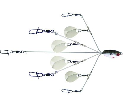 Picture of Yum YUMBLC5TSNR YUMbrella Flash Mob Jr-Colorado Blade 5-Wire Fishing Rig, Floating