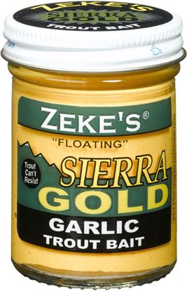 Picture of Atlas Mike's 0920 Sierra Gold Floating Trout Bait, Jar, Garlic/Yellow Glitter
