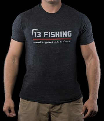 Picture of 13 Fishing Red Line Onyx T-Shirt