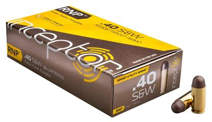Picture of Inceptor Ammunition 40RNPBRSW-50 Inceptor RNP 40 S&W 97 Gr 1410 fps, 443 ft lbs., Sport Utility Ammo, 50 Per Box