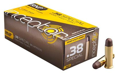 Picture of Inceptor Ammunition 38SPLRNPBR-50 Inceptor RNP 38 SPL 84 Gr 1215 fps, 275 ft lbs ., Sport Utility Ammo, 50 Per Box