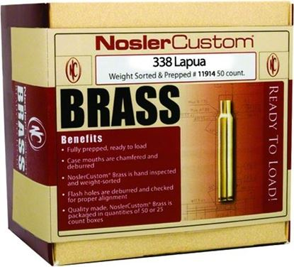 Picture of Nosler 11914 Custom Brass, 338 Lapua (25 ct.)
