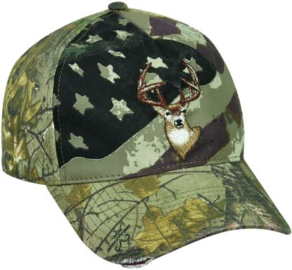 Picture of Americana Deer Embroidery Cap