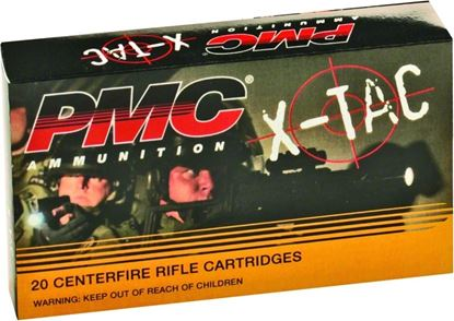 Picture of PMC 5.56X X-TAC Rifle Ammo 5.56 NATO, FMJBT, 55 Grains, 3270 fps, 20, Boxed