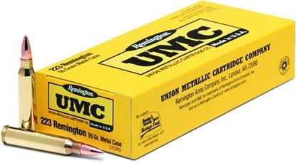 Picture of Remington L223R3 UMC Rifle Ammo 223 REM, Metal Case, 55 Grains, 3240 fps, 20, Boxed