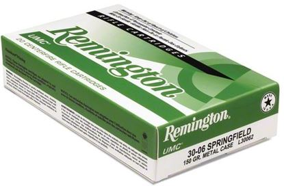 Picture of Remington L308W4 UMC Rifle Ammo 308 WIN, Metal Case, 150 Grains, 2820 fps, 20, Boxed