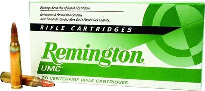 Picture of Remington L223R8 UMC Rifle Ammo 223 REM, JHP, 50 Grains, 3425 fps, 20, Boxed