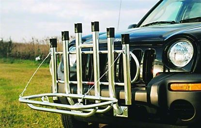 Picture of 6-Holder Fold Down Rod Rack With Cooler Rack