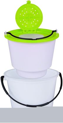 Picture of Flambeau 6051BC 2 Piece Minnow Bucket, 10qt