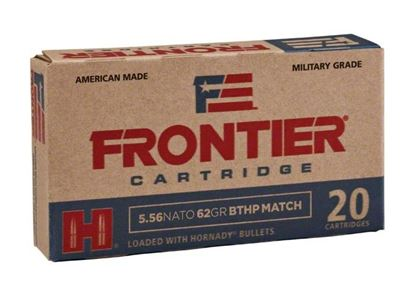 Picture of Frontier FR300 Rifle Ammo 5.56 Nato 62 Gr Boattail Hollow Point Match
