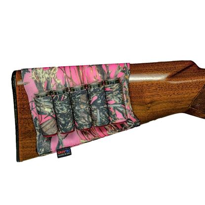 Picture of GrovTec GTAC74 Buttstock Cartridge Shell Holder- Rifle Open Style TrueTimber Pink