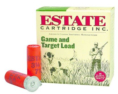 Picture of Estate GTL12-6 Promo Game and Target Load Shotshell 12 GA, 2-3/4 in, No. 6, 1oz, 3-1/4 Dr, 1290 fps, 25 Rnd per Box