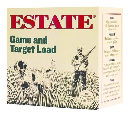 Picture of Estate GTL12-8 Promo Game and Target Load Shotshell 12 GA, 2-3/4 in, No. 8, 1oz, 3-1/4 Dr, 1290 fps, 25 Rnd per Box