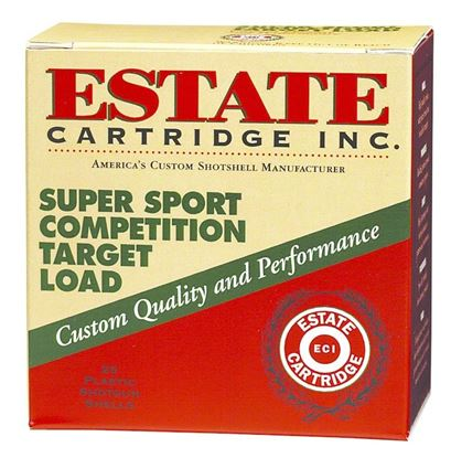 Picture of Estate SS12H-7.5 Super Sport Competition Target Load Shotshell 12 GA, 2-3/4 in, No. 7-1/2, 1-1/8oz, 3 Dr, 1200 fps