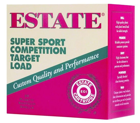 Picture of Estate SS410-7.5 Super Sport Competition Target Load Shotshell 410 GA, 2-1/2 in, No. 7-1/2, 1/2oz, Max Dr, 1200 fps