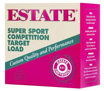 Picture of Estate SS12L1-8 Super Sport Competition Target Load Shotshell 12 GA, 2-3/4 in, No. 8, 1oz, 2-3/4 Dr, 1180 fps