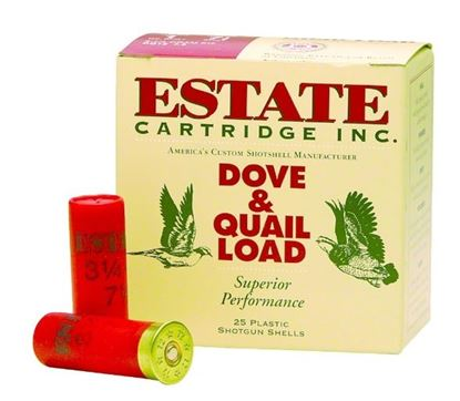 Picture of Estate HG12-7.5 Upland Shotshell 12 GA, 2-3/4 in, No. 7-1/2, 1-1/8oz, 3-1/4 Dr, 1255 fps, 25 Rnd per Box