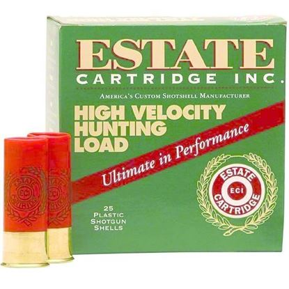 Picture of Estate HV12-5 High-Velocity Shotshell 12 GA, 2-3/4 in, No. 5, 1-1/4oz, 3-3/4 Dr, 1330 fps, 25 Rnd per Box