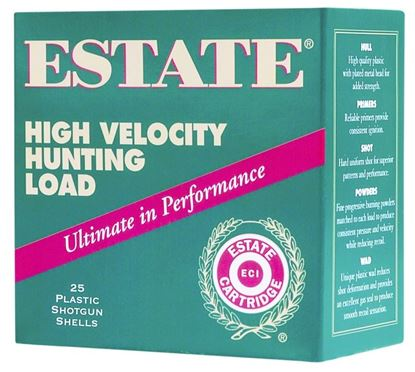 Picture of Estate HV20-4 High-Velocity Shotshell 20 GA, 2-3/4 in, No. 4, 1oz, 2-3/4 Dr, 1220 fps, 25 Rnd per Box