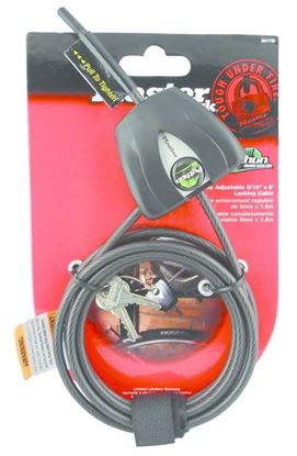 "Picture of Covert 2205 Master Lock Python Security Cable 6', 3/16"" Black"
