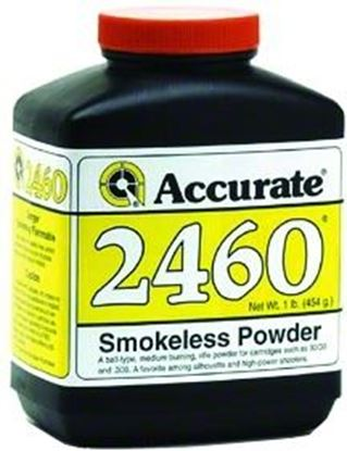 Picture of Accurate 2460 Double Base Smokeless Powder For Rifles, 1Lb, State Laws Apply