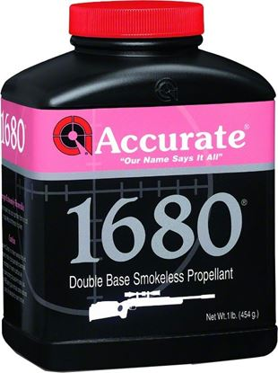 Picture of Accurate 1680 Double Base Smokeless Powder For Rifles, 1Lb, State Laws Apply