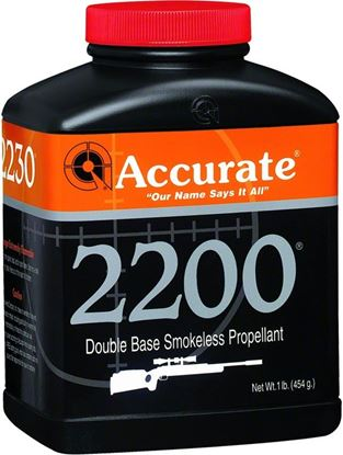 Picture of Accurate 2200 Double Base Smokeless Powder For Rifles, 1Lb, State Laws Apply