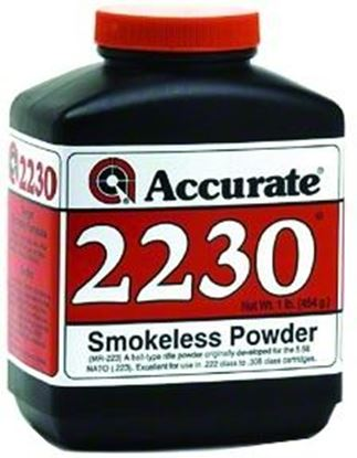 Picture of Accurate 2230 Double Base Smokeless Powder For Rifles, 1Lb, State Laws Apply