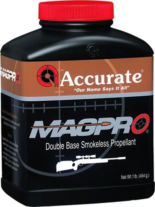 Picture of Accurate MAGPRO Double Base Smokeless Powder For Rifles, 1Lb, State Laws Apply