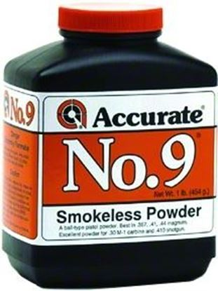 Picture of Accurate No 9 Double Base Smokeless Powder For Handguns, 1Lb, State Laws Apply