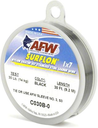 Picture of AFW Surflon Nylon Coated Stainless Leader Wire