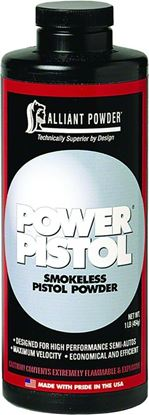Picture of Alliant POWER PISTOL Smokeless Pistol Powder 1lb State Laws Apply