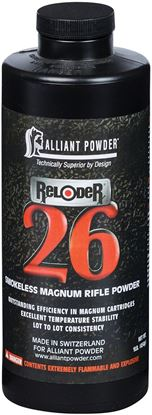 Picture of Alliant RELODER 26 Smokeless Magnum Rifle Powder 1 Lb State Laws Apply