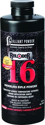 Picture of Alliant RELODER 16 Smokeless Medium Rifle Powder 1 Lb State Laws Apply
