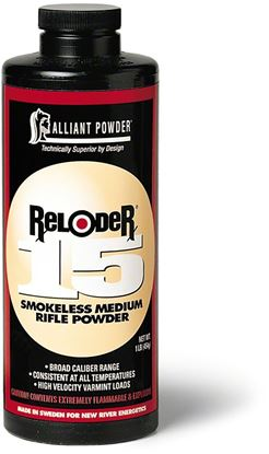 Picture of Alliant RELODER 15 Smokeless Medium Rifle Powder 1 Lb State Laws Apply